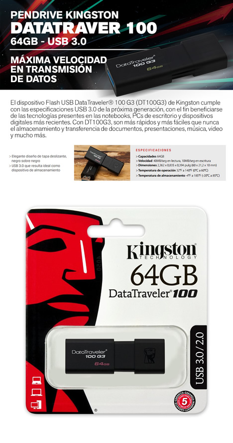 Pendrive USB Kingston 4GB
